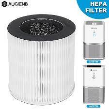 AUGIENB HEPA yedek filtre masaüstü hava temizleyici modeli A DST01 ve A  DST02 azaltmak için kalıp koku duman alerji Air Purifiers