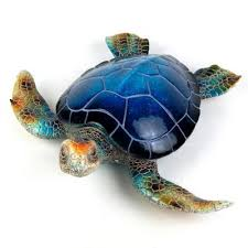 16 in decorative blue sea turtle patio