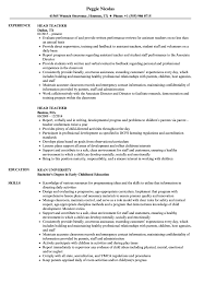 Head Teacher Resume Head Teacher Resume Samples Velvet Jobs 6
