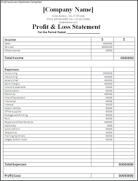 Profit And Loss Statement For Self Employed Mesmerizing Monthly Profit Loss Statement Template Saimarashid