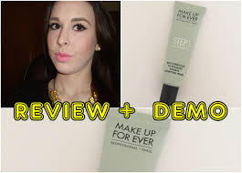 review demo redness correcting primer make up for ever mybeautyandmakeup