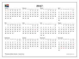 2017 calendar with national holidays