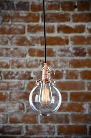 install ceiling light without box new pendant lighting copper 6 clear glass globe cloth