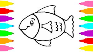 colored fish printables. Fine Fish How To Draw Fish  Coloring Pages Art Learn Colors With Book On Colored Printables