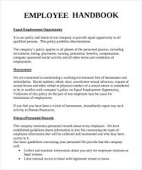 Sample Employee Handbooks Sample Employee Handbook 9 Documents In Pdf