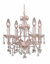 4514 bh cl crystorama paris market 4 light murano crystal blush mini chandelier