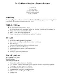 Chiropractic Assistant Resume Adorable Sample Resume For Dental Assistant With No Experience Awesome Entry