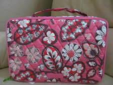 vera bradley large blush and brush makeup case blush pink coord inside fabric