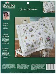 Amazon.com: Bucilla St&ed Cross Stitch Lap Quilt Kit, 40 by 40 ... & Amazon.com: Bucilla Stamped Cross Stitch Lap Quilt Kit, 40 by 40-Inch,  43288 Year of Flowers Adamdwight.com