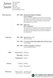 Basic Cv Templates In Microsoft Word Format No Registration Required