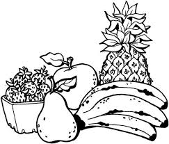 Small Picture Fruits Coloring Pages for Kids Free Coloring Pages For Kids
