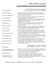 facilities manager   electrical engineer resumefree resume templates
