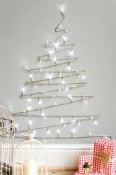 A minimal Christmas tree alternative. Great for a small space, perfect for  an accent wall.
