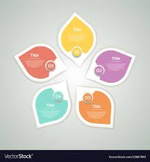 Circle Arrows Infographic Diagram Graph Royalty Free Vector
