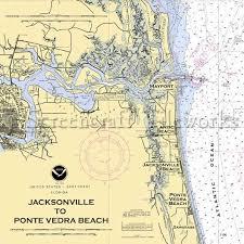 Florida Jacksonville To Ponte Vedra Beach Nautical Chart