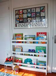 nursery wall bookshelf
