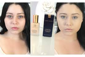 first impression review estee lauder double wear foundation you