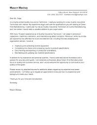 Quality Cover Letter Cover Food Quality Assurance Cover Letter
