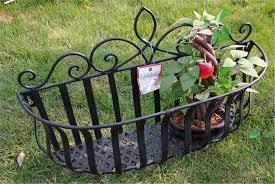 retro metal hanging box basket garden