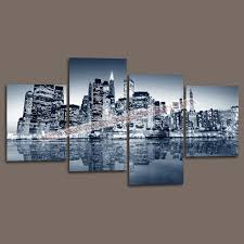 wall decor canvas painting custom canvas prints of new york city buildings for home living room