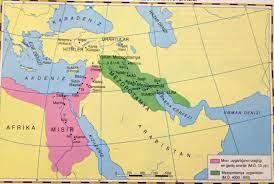 Ilk çağ Anadolu Ve Mezopotamya Uygarlıkları Haritası