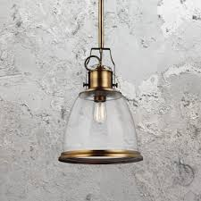 brass seeded glass pendant light