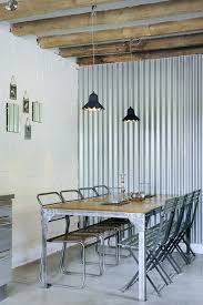 Small Picture Corrugated metal design family room industrial with metal ceiling