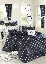 2 piece ranforce quilt duvet cover set de cotton black white single xl