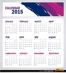 Simple Calendar Template 2015 Simple 2015 Calendar Template Vector Free Download