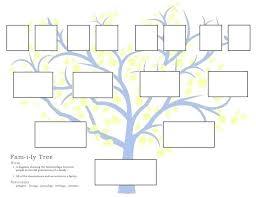 Blank Family Tree 4 Generations Blank Family Tree Template