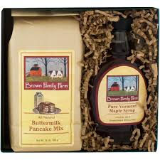 the gourmet market vermont maple syrup and pancake mix gift box