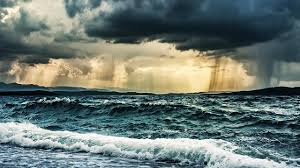 Image result for picture of tempestuous waves in the night sky