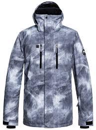 Quiksilver 2019 Mission Printed Mens Snow Jacket Grey Shop