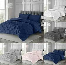 pintuck pleated duvet cover with