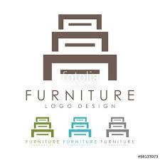 Furniture Logo Lockers Logo Design Logo Vector Stock image and