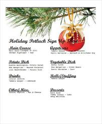 Potluck Sign Up 7 Potluck Signup Sheet Templates Free Sample Example Format