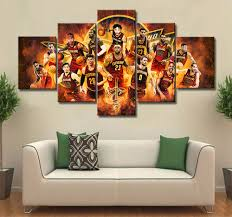 cleveland cavaliers canvas on cleveland cavaliers wall art with cleveland cavaliers 5 pieces canvas bowlthings store