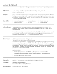 Resume With No Experience Example List Of Resume Examples For Call