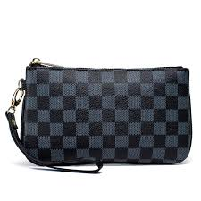 checd zip wristlet wallet for women leather rfid blocking purse black handbags com