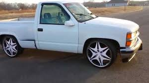 Step side chevy on 24's - YouTube