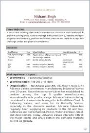 Resume Sample of MBA Finance & Marketing having 4 years of good experience  as commercial executive in Manufacturing industry