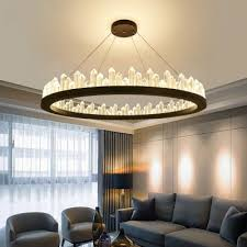 ultra modern led crystal ring pendant led ambient warm white light 1 light k9 crystal halo