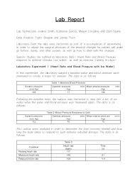 College Lab Report Template Laboratory Ib Format Chemistry