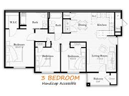 Baxter Meadows Apartments Floor Plans - Handicap accessible bathroom floor plans