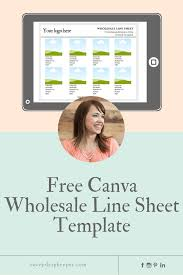 Do I Need A Wholesale Line Sheet Get A Free Canva Wholesale Line