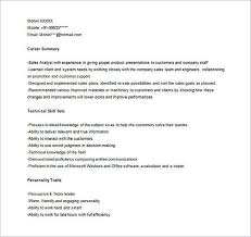 Sales Analyst Resume Marketing Analyst Resume Sample
