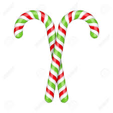 Two Candy Canes On White Background клипарты векторы и набор