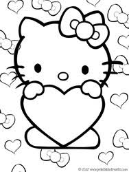 Small Picture Hello Kitty Valentines Coloring Pages Printable Treatscom