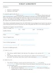 sublease contract template free sublease agreement form whatapps co