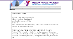White's In Government – Online Portfolio Bill Passage Michigan Andrew Youth